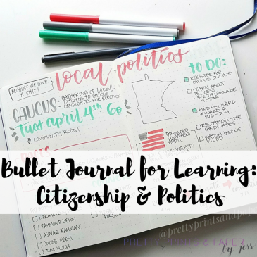 How do you keep track of what you want to learn about in your bullet journal? Check out how I'm learning about local politics - maybe it will help you learn about whatever you want to learn about, too!