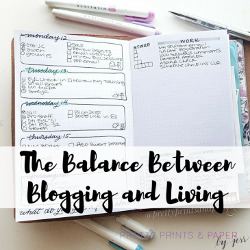 Being a blogger is tough - today I'm talking about the balance between being a bullet journal and calligraphy blogger and living your life