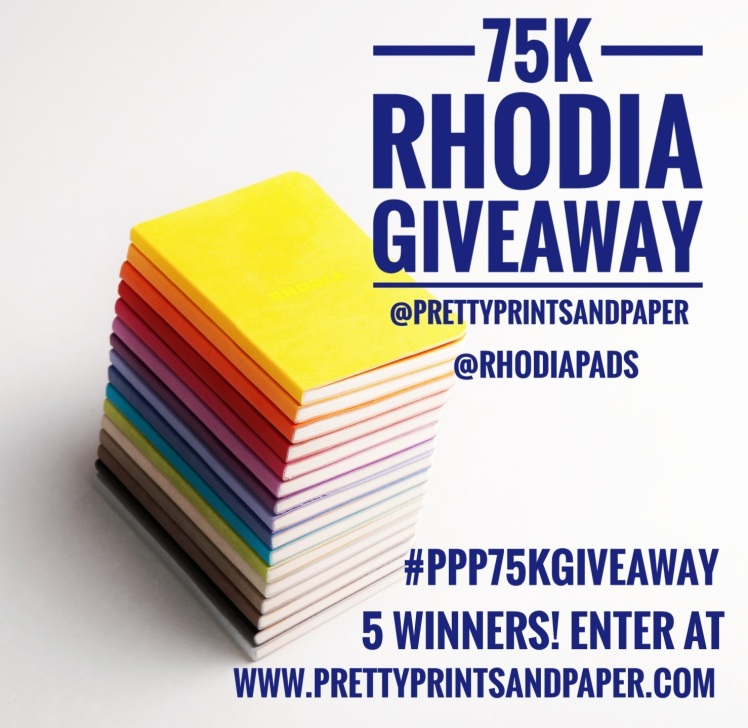 To celebrate 2 years of blogging and 75K on Instagram I'm giving away FIVE Rhodia softcover notebooks - enter today!