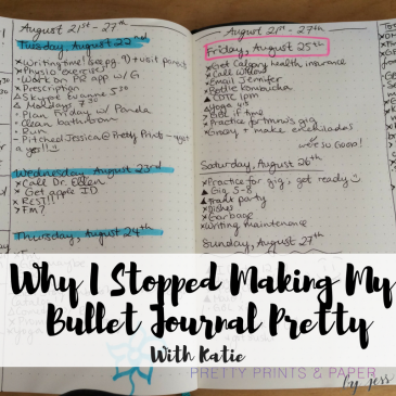 Sometimes we have to let go of our perfectionism and stop making our bullet journals pretty