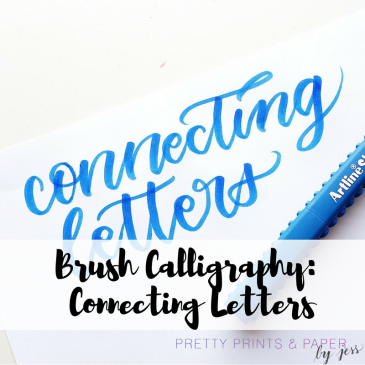 Sharing just a few tips for how you move from drawing letters to connecting them!