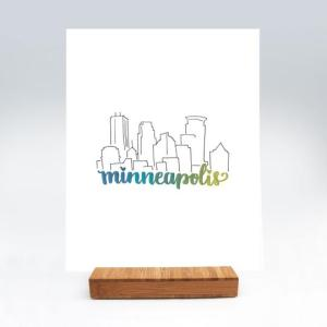 Minneapolis Print by Pretty Prints and Paper